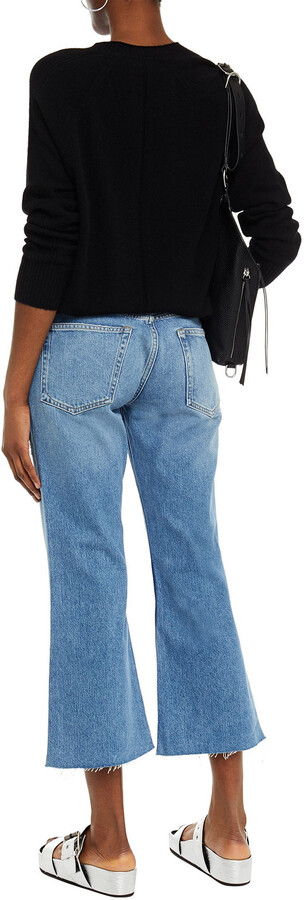 Thumbnail for your product : Rag & Bone Rosa Distressed Mid-rise Kick-flare Jeans