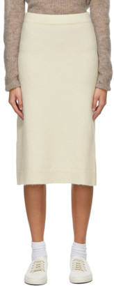 MAX MARA LEISURE White Alpaca Leida Skirt