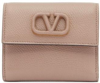 Valentino V-sling Leather Wallet - Womens - Grey