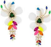 Shourouk oversized floral pendant earrings
