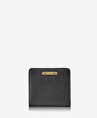 GiGi New York Mini Foldover Wallet In Black Pebble Grain