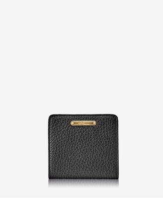 GiGi New York Mini Foldover Wallet In Navy Pebble Grain