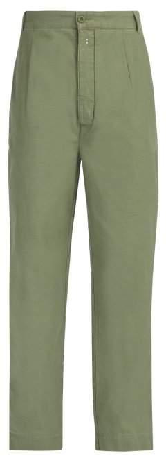 Officine Generale Harry Cotton Chino Trousers - Mens - Khaki