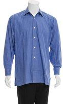 Charvet Checkered Print Button-Up Shirt
