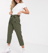 New Look Tapered Tie Waist Trousers