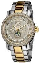 Akribos XXIV Men's AK613TT Grandiose Diamond Multi-Function Stainless Steel Two-Tone Bracelet Watch