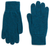 Johnstons of Elgin Teal Cashmere Classic Gloves