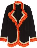 Bottega Veneta Fringe-trimmed Cotton Blazer - Black