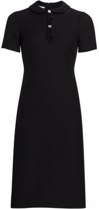 Gucci Cady Crepe Wool & Silk Dress