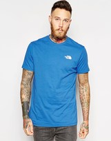 The North Face T-shirt With Red Box Logo - Blue