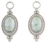 Jude Frances 18K Provence Oval Moonstone & Diamond Earring Enhancers