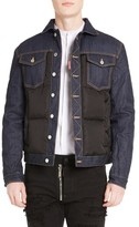 DSQUARED2 Men's Mixed Media Quilted Denim Jacket