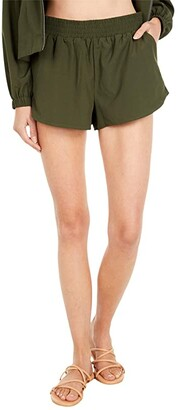 O'Neill Landing Shorts (Dark Olive) Women's Clothing