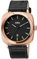 Edwin EW1G018L0034 Men's Stainless Genuine Leather Band Dial Watch