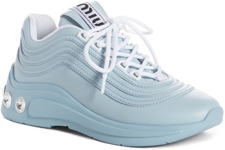 Miu Miu Crystal Embellished Sneaker