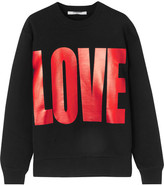 Givenchy Metallic Printed Sweatshirt In Black Cotton-jersey - x small