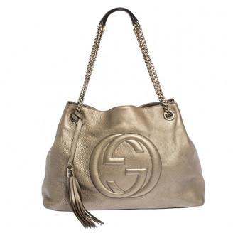 Gucci Soho Gold Leather Handbags