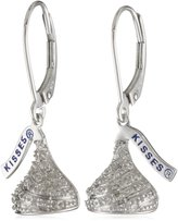 Hershey Jewelry Sterling Diamond 0.16 cttw Flat Back Small Lever Back Earring