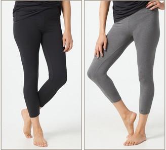 Cuddl Duds Flexwear Cropped Leggings Set of 2