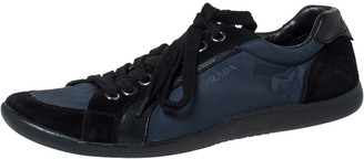Prada Sport Blue Suede and Nylon Low Top Sneakers Size 42