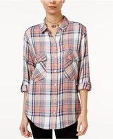 Sanctuary Plaid Boyfriend Shirt