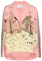 Valentino Embroidered nappa leather jacket