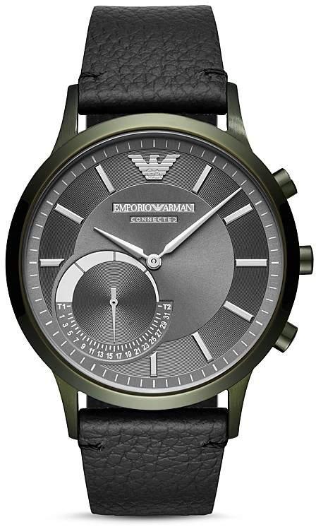Emporio Armani Armani Connected Olive-Tone Hybrid Smartwatch, 43mm
