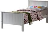 Manhattan White Wooden Single Bed & Bedzone Mattress