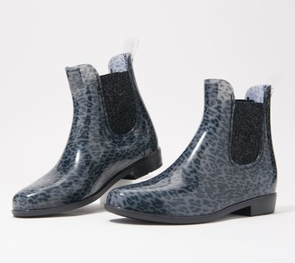 Skechers Animal Print Waterproof Rain Boots - Puddler