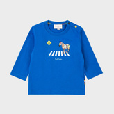 Paul Smith Baby Boys' Blue Zebra Crossing Print 'Merrow' Top