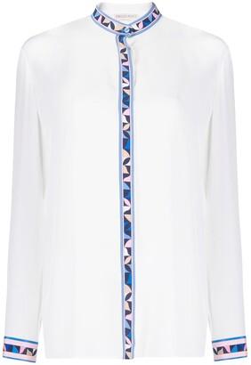 Emilio Pucci Geometric Print Silk Shirt
