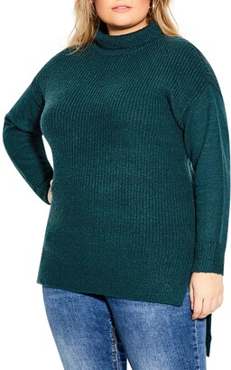 City Chic Simply Mod Boucle Sweater