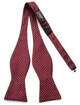 Pense'e PenSee Mens Exquisite Self Bowtie Polka Dots Woven Silk Bow Ties-Various Colors