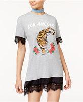 Hybrid Juniors' Los Angeles Graphic T-Shirt Dress