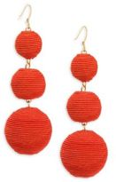 Kenneth Jay Lane Carnival Triple Drop Earrings/Red