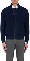 Luciano Barbera MEN'S SEED-STITCHED COTTON CARDIGAN