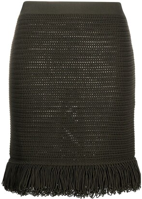 Bottega Veneta Knitted Fringe-Trim Skirt