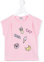 Karl Lagerfeld badges T-shirt - kids - Cotton/Polyester - 2 yrs