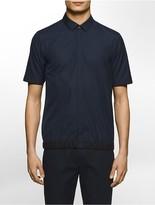 Calvin Klein Platinum Regular Fit Mesh Trim Short-Sleeve Shirt