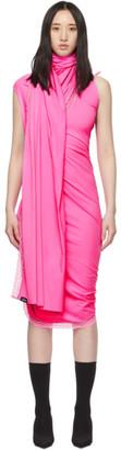 Vetements Pink Lingerie Wrap Dress