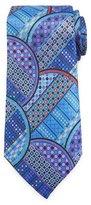 Ermenegildo Zegna Quindici Geometric Circle Tie, Blue