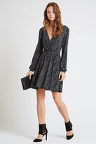 BCBGeneration Diamond Print Surplice Dress - Black