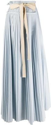 Roksanda Tie-Waist Pleated Maxi Skirt