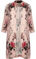 River Island Womens Plus pink floral print duster jacket