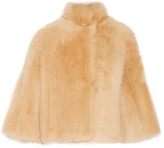The Row Warner Cropped Shearling Coat - Sand