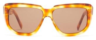 Celine Oversized D-frame Acetate Sunglasses - Tortoiseshell