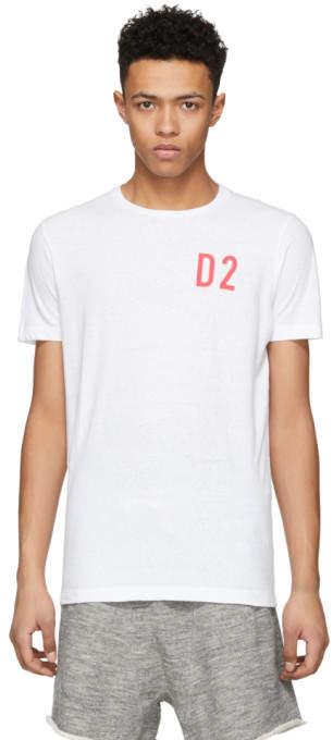 DSQUARED2 White D2 New Surf T-Shirt