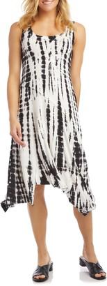Karen Kane Tie-Dye Handkerchief Hem Dress