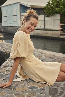 Faithfull Rianne Wrap Mini Dress By Faithfull in Beige Size XS