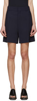 Chloé Navy Wool Shorts
